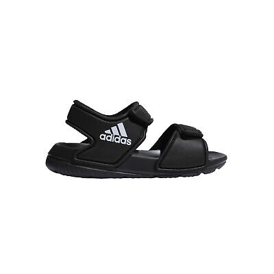 adidas AltaSwim Infant Kids Summer Pool Flip Flop Sandal Black/White