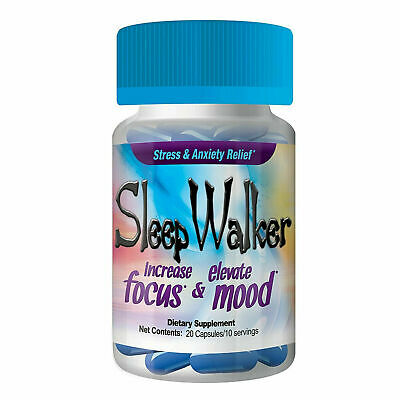 Sleep Walker Capsules 20 Pills (1 Bottles) Focus & Mood Optimizer Sleepwalker