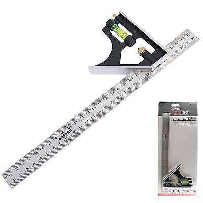 "Draper 300mm Adjustable combination Engineers  Carpenter Try square 81139 12"""