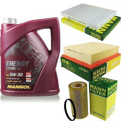 Inspection Set 5L Mannol Energy Combill 5W30 Motor Oil + Mann Filter 10768614