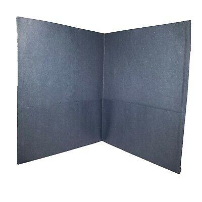 Lot Of 5 25 Count Box Oxford Dark Blue Letter Size Twin Pocket Folders 57538