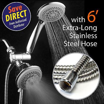 DreamSpa 36 Setting Showerhead and Hand Shower Dual 3-Way-Combo With 6 ft - 3 Way Showerhead