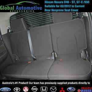 Nissan Navara D40 ST STX STX550 FRONT&REAR NEOPRENE (WATERPROOF) CAR SEAT COVERS