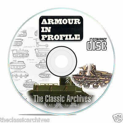 Profile Publications Armour in Profile - 24 Volume- Tank Military History CD B56