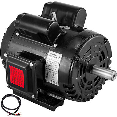3hp Air Compressor Duty Electric Motor 184t Frame 1725 Rpm 208-230v Single Phase