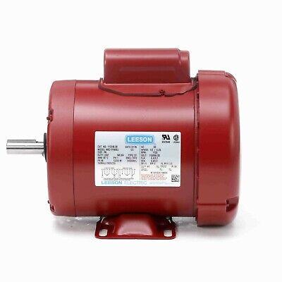 113256.00 13hp Leeson Electric Motor Tefc 1725 Rpm 56 Frame 1 Ph. 115230v