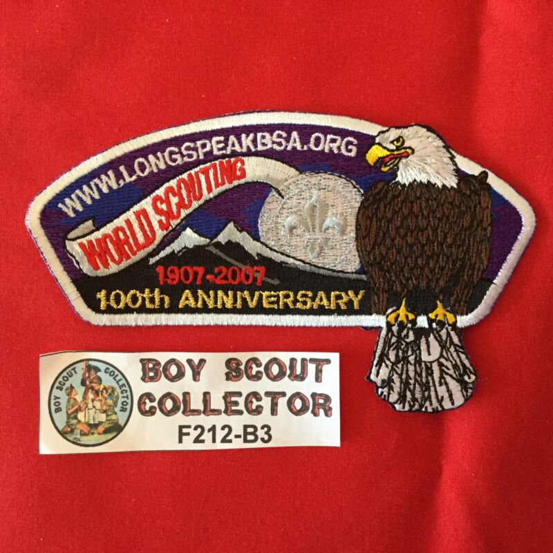Boy Scout CSP Longs Peak Council Shoulder Patch 2007 World Scouting 100 Years