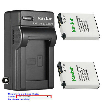 Kastar Battery Wall Charger for Nikon EN-EL12 MH-65 & Nikon Coolpix B600 Camera