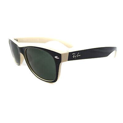 Ray-Ban Sunglasses New Wayfarer 2132 875 Top Black On Beige Green Small (Ray Ban New Small Wayfarer 52mm Sunglasses)
