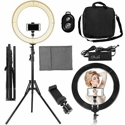 """18"""" SMD LED Ring Light Dimmable Lighting Kit For Camera Makeup Phone Youtube"""