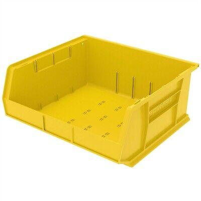 Qty 1 Box Of 6 Akro-mils Stack Hang Bin Yellow 30250yello