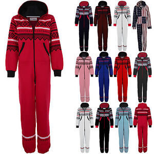 Ladies-Aztec-Print-All-In-One-Adult-Hooded-Jumpsuit-Womens-Playsuit-Suit-8-14