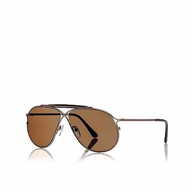 Authentic Tom Ford Tom N.6 28E Private Collection Rose Gold brown   Sunglasses