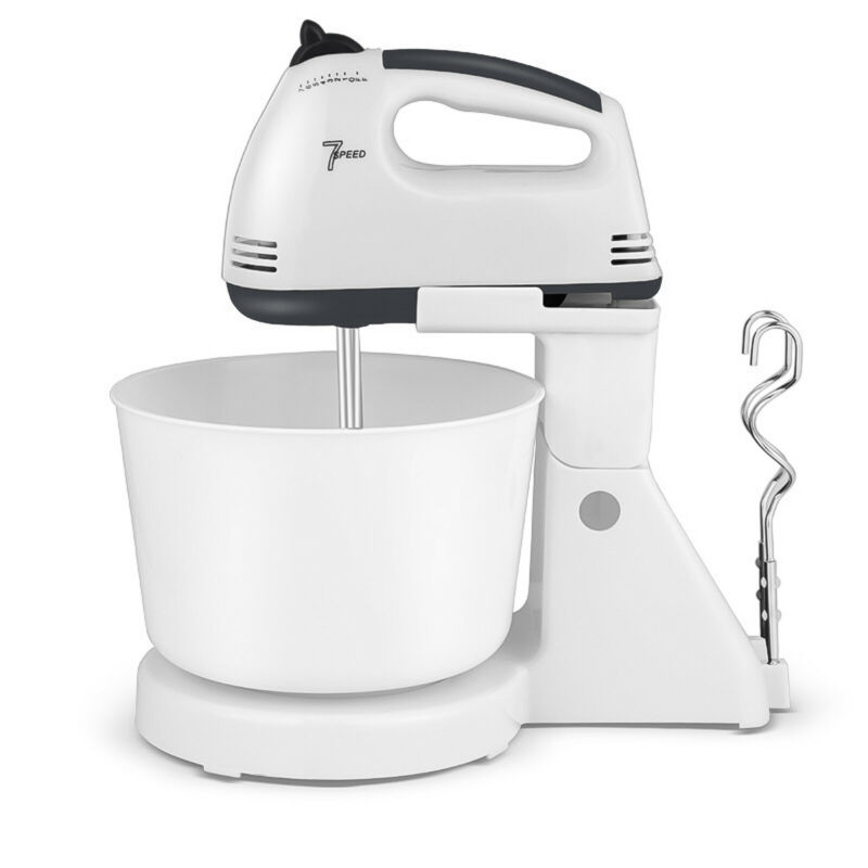 2.5QT 180W 7-Speed Electric Food Stand Mixer Kitchen Tilt-Head Detachable Handle