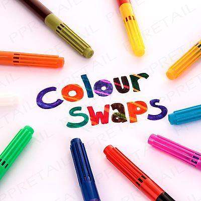 10 x MAGIC COLOUR SWAP/CHANGE PEN SET Felt Tip Markers Colouring Children/Kids