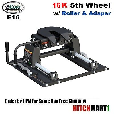 16k 5th Wheel Hitches (16K CURT 5TH WHEEL TRAILER HITCH & OEM LEG w ROLLER FOR FORD w/ TOW PREP 16674 )