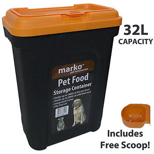 32L Large Pet Food Container Dog Cat Animal Storage Bin 16KG Dry Feed 23KG Seed  sc 1 st  eBay & Dog Food Storage Bin | eBay