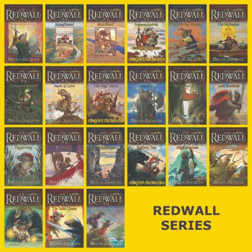 Redwall Series Set Collection Vols.1-22 Books by Brian Jacques - LARGE PAPERBACK