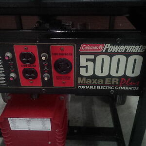 2 gasoline 5000W - 10HP Tecumseh 120/240V - 500$ for both