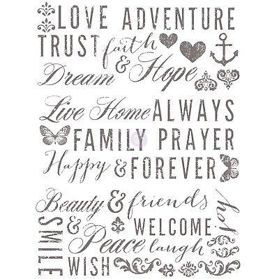 - PRIMA re-design WORDS TO LIVE BY Transfer Home Decor 22 x 30
