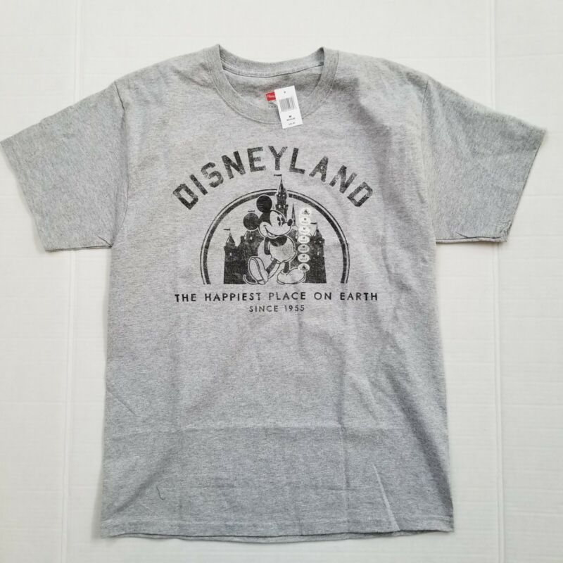 Disney Parks Disneyland Happiest Place Short Sleeve T-shirt Adult Med New w/Tag