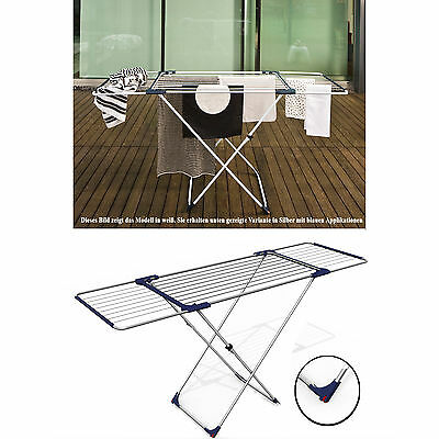 Silber ausziehbar Rollen Flügelwäschetrockner Wäscheständer 20 m Wäschetrockner