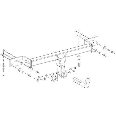 Tow Bar 28064/_A2 7pin Bypass Relay For Opel Vauxhall Mokka 12 Swan Neck Towbar