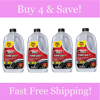 Magic Formula Tire - Black Magic Tire Wet New Formula Glossy Shine Without Wiping 64 oz - (PACK of 4)