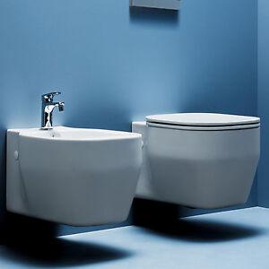 Nuovi sanitari sospesi azzurra glaze wc bidet sedile - Sanitari bagno design ...