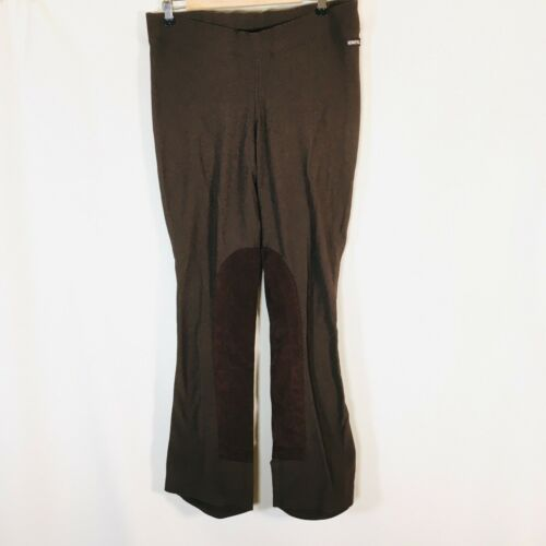 Womens Kerrits Ribbed Equestrian Breeches Riding Pants Bootcut Brown XL Pull On