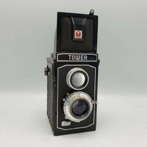 1950s Tower Reflex III TLR 120 Roll Film Camera w/ Westar 75mm F3.5 Lens Germany