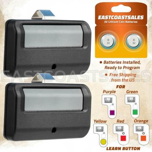 2 For Chamberlain 950ESTD 891LM Garage Door Opener Remote Security+ 2.0 Learn