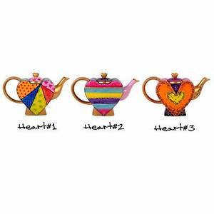 Heart Tea Pots Hand Painted Wattle Ponds Singleton Area Preview