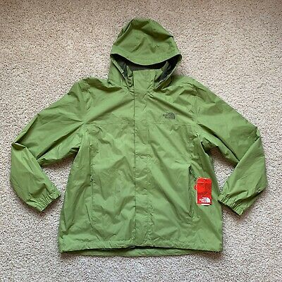 The North Face Men's Resolve 2 Rain Jacket Hooded Waterproof 2XL XXL Green NWT!