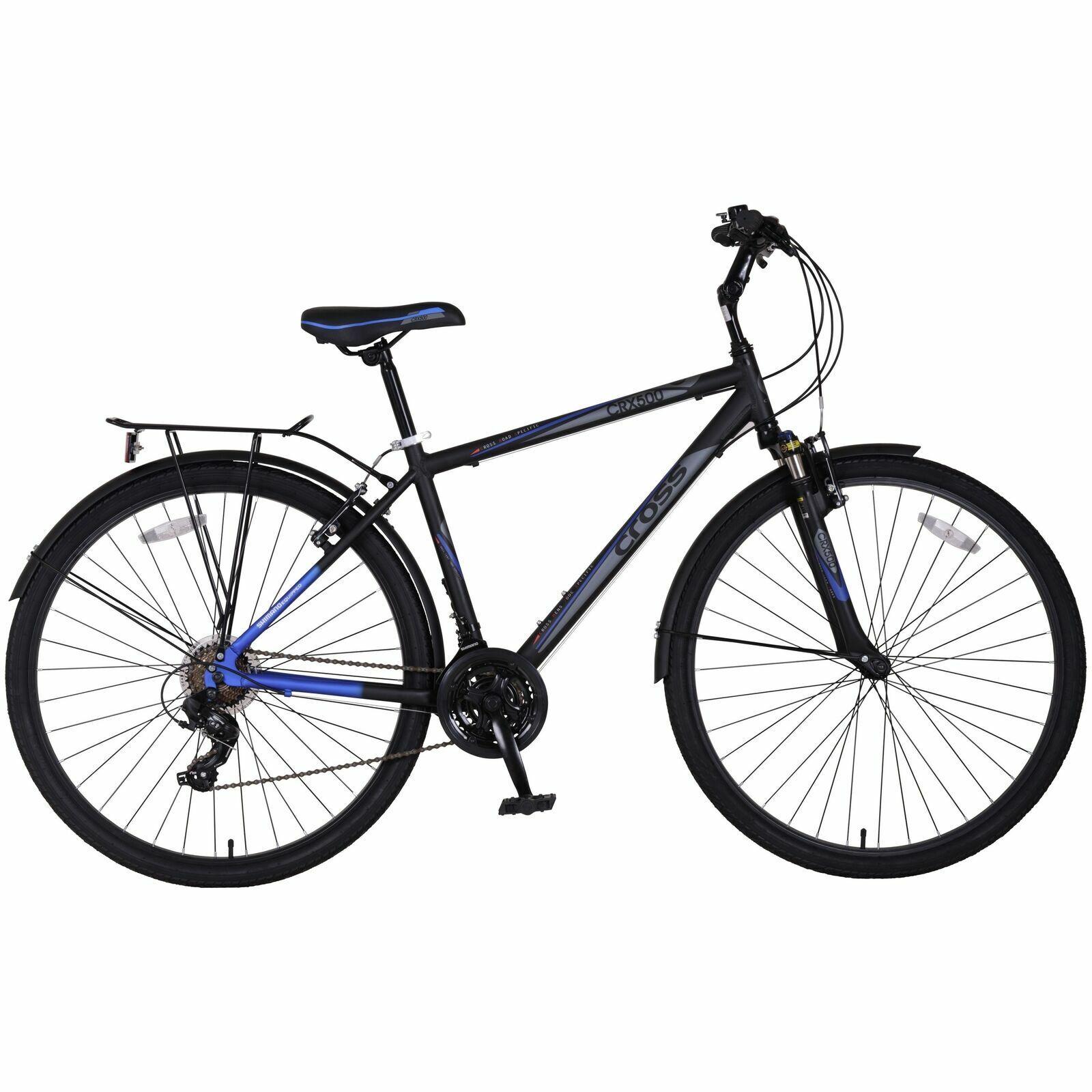 "Cross CRX500 700c 28"" Inch Wheel Hybrid Alloy Bike Bicycle 21 Gears"