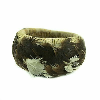 "Fully feathered treasure basket, 2 3/4"" x 1 3/4"""