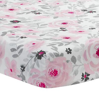 Bedtime Originals Blossom Pink/Gray Watercolor Floral Baby F