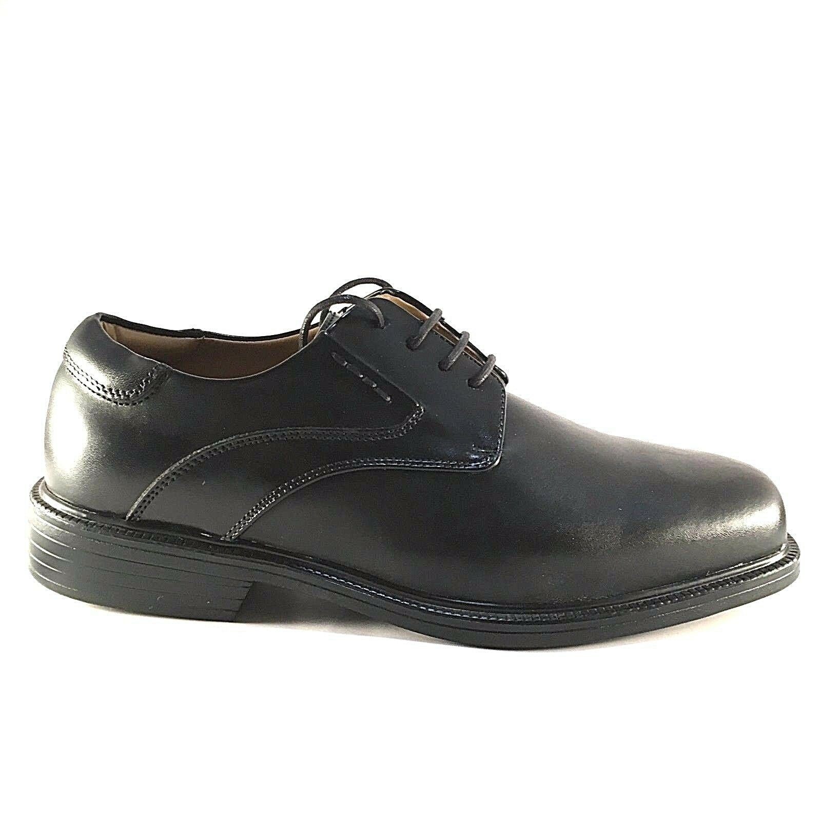 La Milano A1719 Black Leather Comfort Lace Up Extra Wide (EEE) Men's Dress Shoes 1