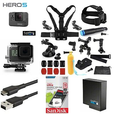 GoPro HERO 5 BLACK 4K CHDHX-501 Camera+16GB Card+Extreme Sports Bundle Hero5!