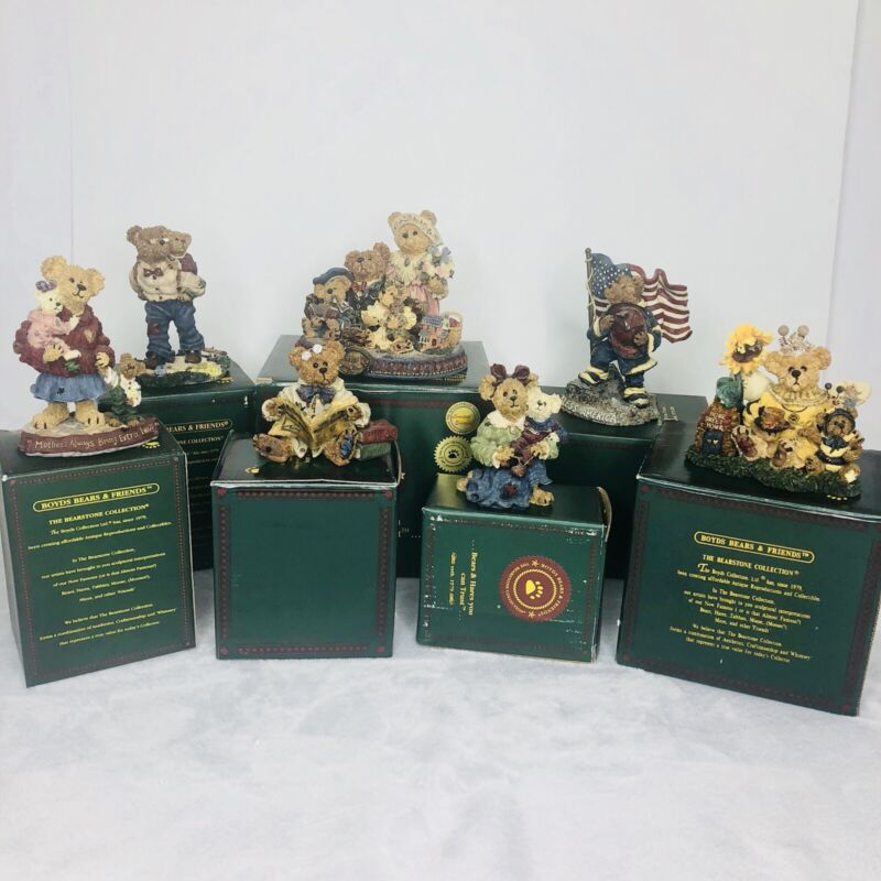 Lot of 7 Boyds Bears Figurines Special Limited Celebration Editions Exclusive