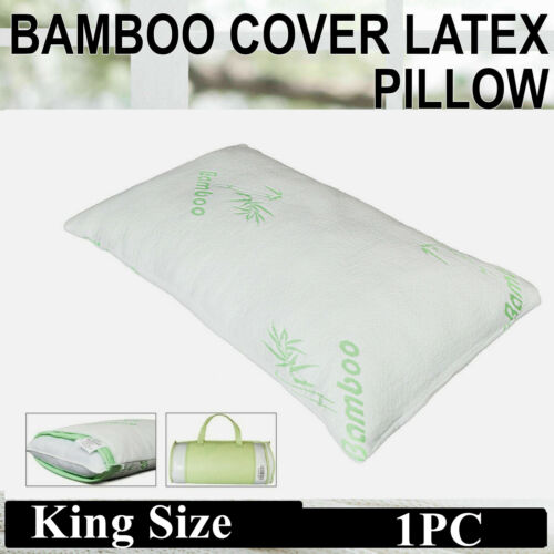 BAMBOO Body Neck Back Support Pillow Memory Foam Firm Natura