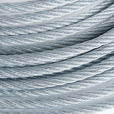 "5/16"" Galvanized Aircraft Cable Steel Wire Rope 7x19 (250 Feet) for sale  Shipping to South Africa"