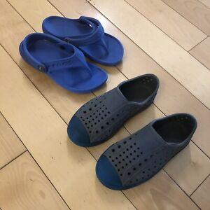 Boys crocks and native shoes