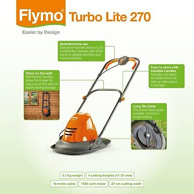 Flymo Turbo Lite 270 Hover Mower Brand New