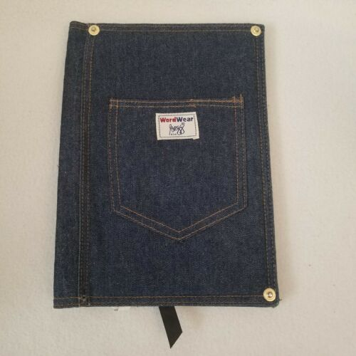 WordWear Gregg Journal Cover Denim Fabric Tablet Planner Jacket 7x10 Book Bible