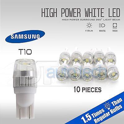 10X High Power 6000K White T10 921 Interior/License Plate SMD LED Light Bulbs