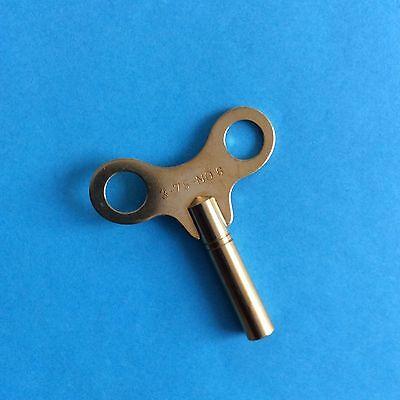 Uhrenschlüssel für Großuhren Nr. 6 Vierkant 3,75 mm Messing