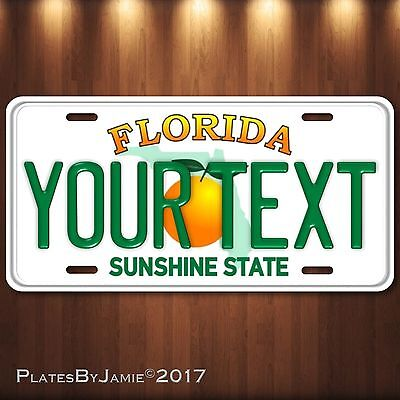 Custom Florida Aluminum License Plate Tag Personalized Auto Tag Sunshine State
