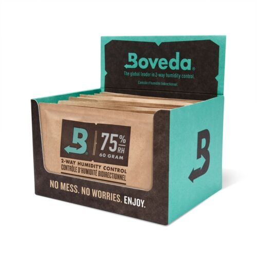 Boveda 75% RH 2-Way Humidity Control | Size 60 for Every 25 Cigars | 12-Count