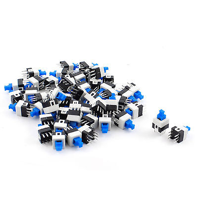 50pcs 6 Pin Square 7mmx7mm Momentary Dpdt Mini Push Button Switch